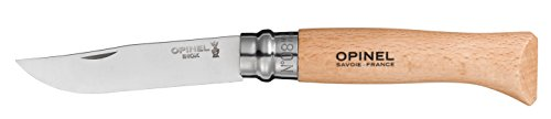 Opinel No.08 Stainless Steel Folding Knife with Beechwood Handle