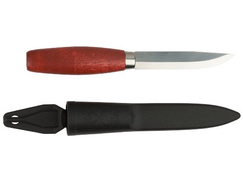 Morakniv Classic No 1 Wood Handle Utility Knife with Carbon Steel Blade, 3.9-Inch, M-1-0001