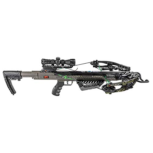 Killer Instinct MSCKI-1104 Boss 405 Dead Silent Deer Hunting Crossbow with Scope, Quiver, Rope Cocker, and 3 Bolts Pro Package, Camo