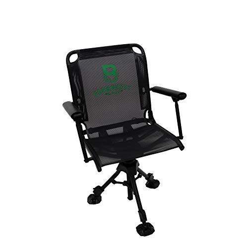 Barronett Blinds BC106 360 Deluxe Swivel Hunting Chair, Gray/Black/Kelly Green