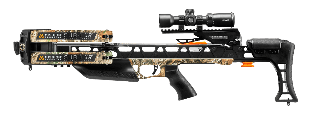 Side View of the Mission Archery Sub-1 XR Crossbow