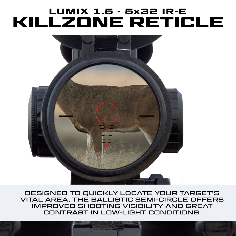 KILLZONE-RETICLE of the LUMIX-1.5-5x32-IR-E-LUMIX-1.5-5x32-IR-E scope