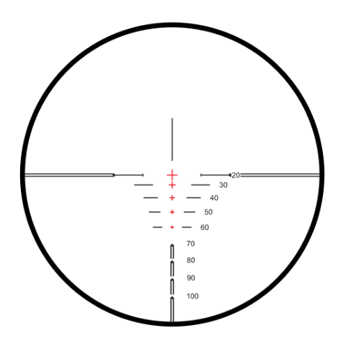 XB30 Compact SR reticle of the hawk scope