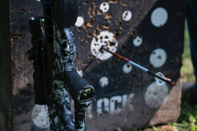 Barnett HyperGhost-405-and-a-Crossbow-Practice-Target