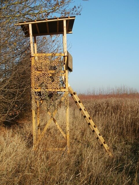 Hunting Stand Camouflaged