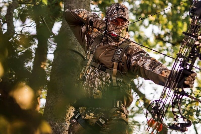 Bowhunting from a treestand.jpg