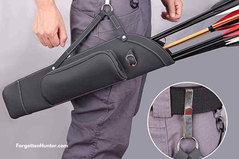 Kratarc Archery Dual Use Leather Back Arrow Quiver Hip Quiver